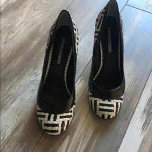 Naughty Monkeys Closet black and white pump shoes
